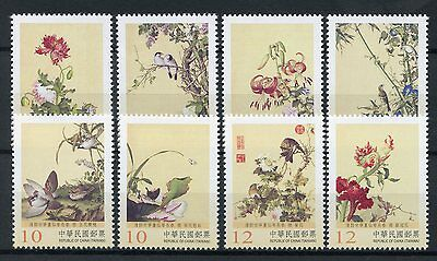Taiwan China 2017 MNH Immortal Blossoms of Eternal Springs Pt2 8v Set Art Stamps
