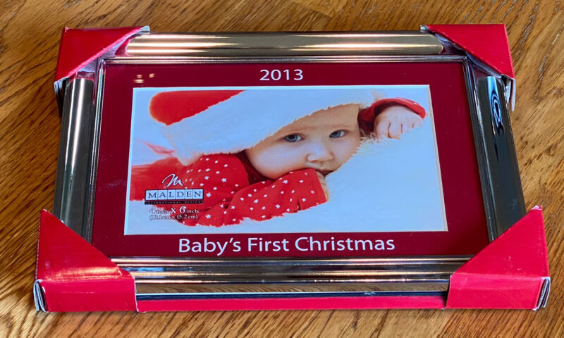 Picture Frame 4x6 - 2013 Baby's First Christmas