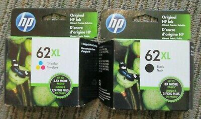 HP 62XL Black & Tri-Color  Inkjet Cartridges  Multiples Available 12/2020