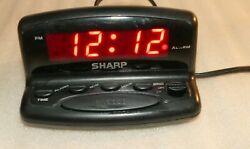 Sharp SPC026 Nightstand Alarm Clock Digital LED Display w/ Snooze Compact Size