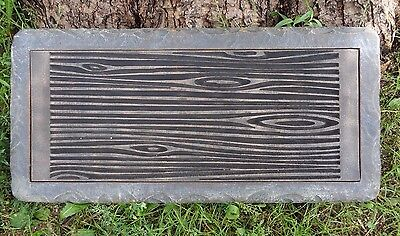 """Concrete log bench top mold 3/16th"""" abs plastic casting garden mould for sale  Shipping to India"""