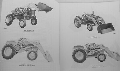 Ih Wagner Front End Loaders Backhoe Owners Manual For International Farmall