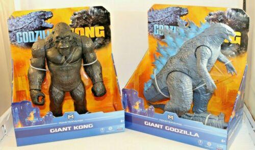 "Playmates Giant Godzilla Vs Giant Kong Toho Monsterverse 11"" Figures NEW"