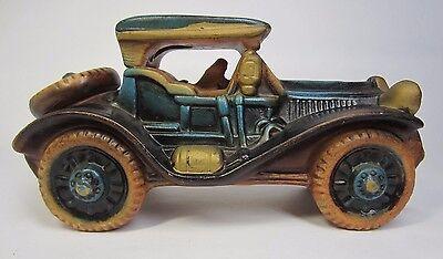 Vintage Rare UCAGCO Ceramics Japan Car Coin Bank Good++ Condition!