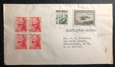 1948 Pontianak Netherlands Indies cover to Philadelphia Pa USA