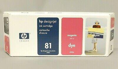 HP 81 Magenta 680ML Dye Ink Cartridge C4932A DesignJet 5000 New Sealed Box