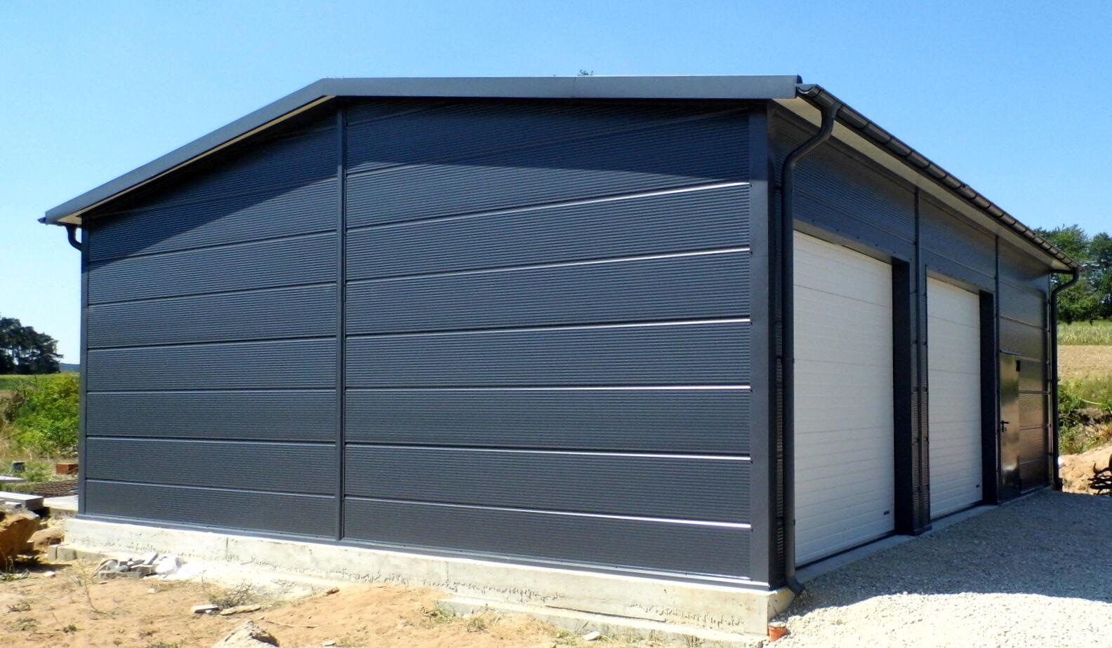 Isolierte Stahlhalle/ Garage 9 x 11 x 3,4/ 4,50 m  NEU!!