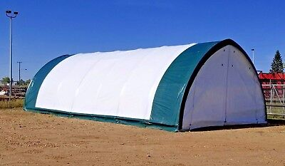 New 20x42x12 Oval Tube Shelter Fabric Coverall Storage Building Hoop Barn