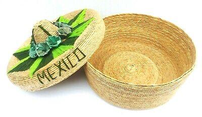 Tortilla Wärmer (Traditional Tortilla Warmer Basket Embroidery Mexico Green )