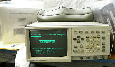 Hp Agilent 8175a Digital Signal Generator Datawaveform Display Screen 2 Manuals
