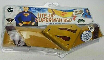 Superman Returns Costume Lite Light Up Belt Child Size Cosplay Halloween NEW