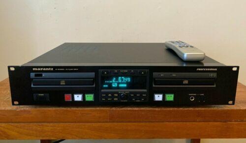 Marantz CDR 510/U1B Rack Mounted Dual Well CDR Recorder Player w Remote Control.