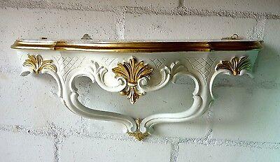 Wandkonsole/Spiegelkonsolen/Wandregal BAROCK ANTIK Weiß Gold B:45cm cp68