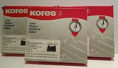 Lot 3 Kores Ribbon Ibm Wheelwriter Black Kor192b Carbofilm 516 X 1089