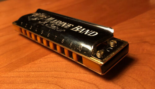 Custom Hicksville Marine Band 1896 Harmonica Key of C (Vintage- New Old Stock)