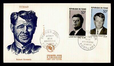 DR WHO 1969 CHAD FDC JFK + RFK  C239836