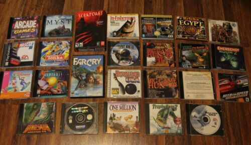 Huge Lot of Vintage 90s PC Games & Software - Command & Conquer Bowling Far Cry