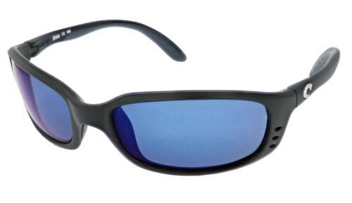 Costa Del Mar Brine Matte Black Blue Mirror Polarized Sunglasses BR 11 OBMP