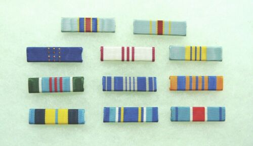 US Agency, Department of the Air Force Civilian Medal ribbons, set of 11