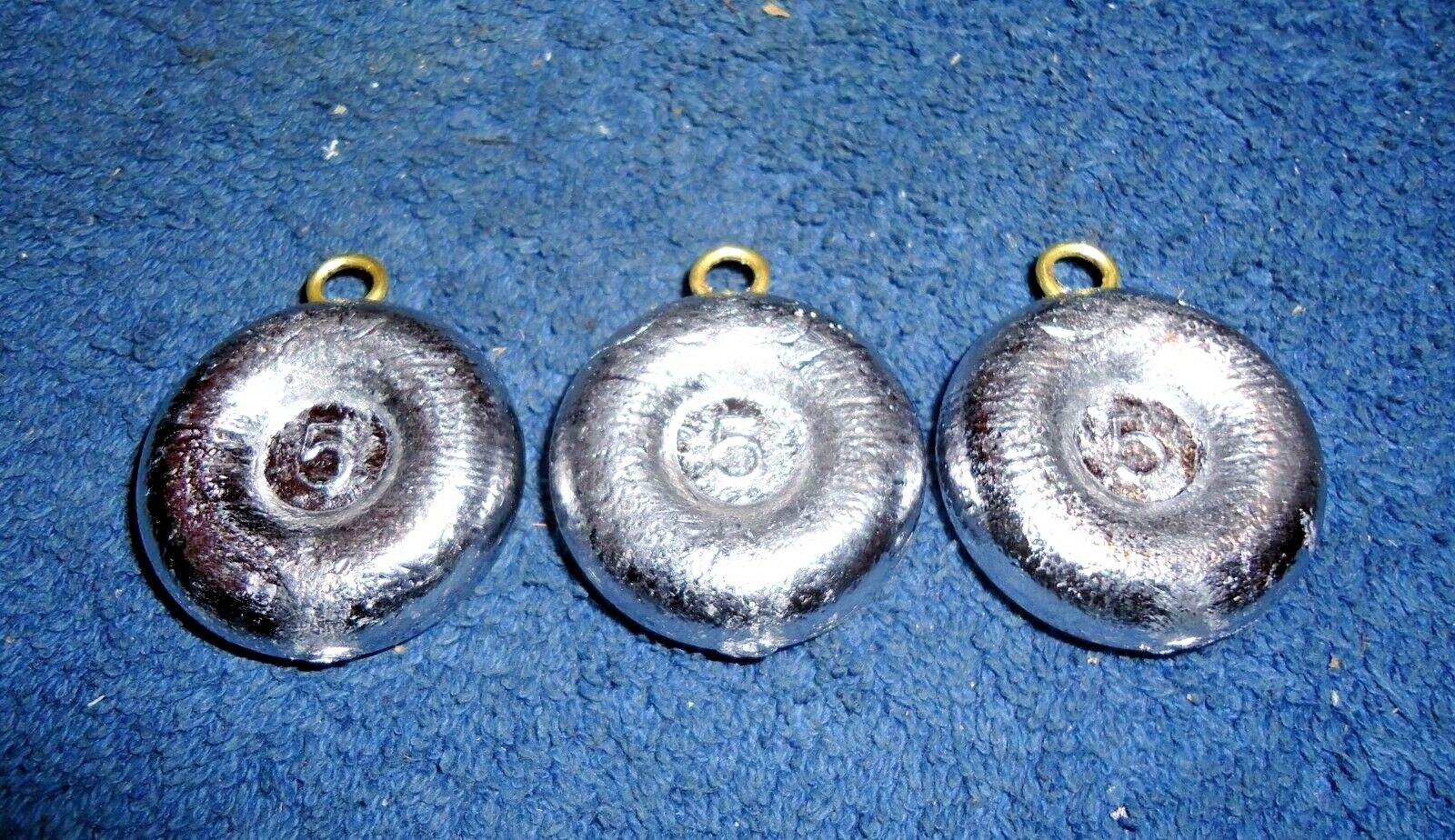 Lot of 20 River Fishing sinkers Coin 10 of each 5 and 6 oz weights