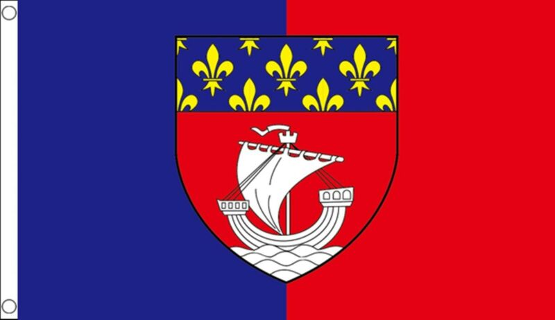 PARIS FRANCE 5x3 feet FLAG 150cm x 90cm Polyester fabric flags PARISIEN