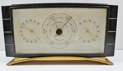 Airguide Weather Station Barometer Thermometer Humidity - Desk Top