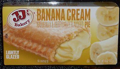 Jjs Bakery Lightly Glazed Snack Pies 4Oz  6   Banana Cream  Remember Hostess
