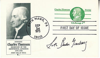 Ruth Bader Ginsburg Handsigned Autographed 1975 First Day Of Issue Postal Card