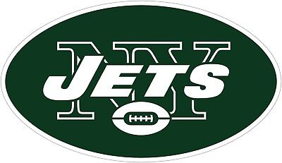 (New York Jets Logo NFL Color Die Cut Vinyl Decal - You Pick Size)