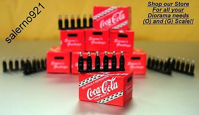 One Red Coca--Cola Case + 6 Bottles  MINIATURE FOR MODELING 1:24(G) SCALE