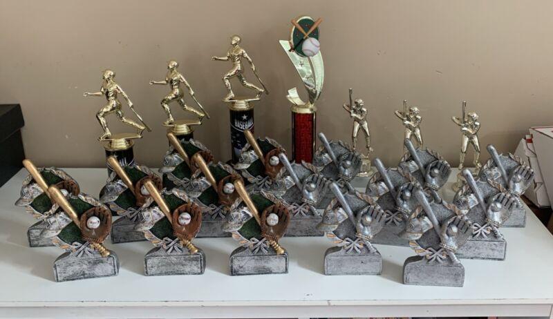 Lot Of (23) Baseball Trophies