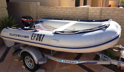 Quicksilver Inflatable Boat (RIB) with 15HP Mercury 2 Stroke