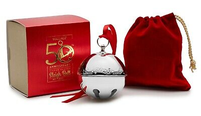 Wallace 2020 50th Edition Annual SILVER-PLATED SLEIGH BELL Ornament