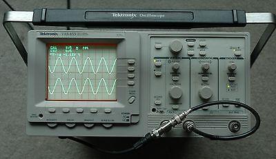 Tektronix Tas455 Dual Trace Oscilloscope 60 Mhz Works Great