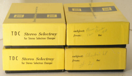 four TDC Stereo Selectrays for the Stereo Selectron Changer, from Bell & Howell