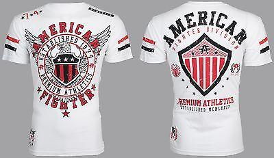 American Fighter Mens T Shirt Excelsior Eagle White Athletic Biker Gym Ufc  40