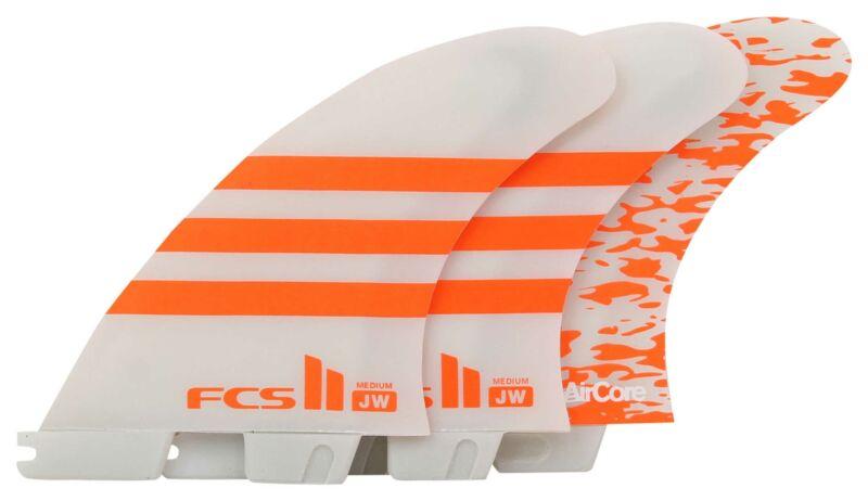 FCS II JW Performance Core Tri Fin Set - Orange / White - Medium - New