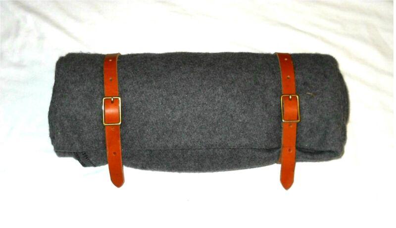 Civil War Bed Roll Blanket Straps w/ Belt Loops Camping, Hiking - Brown or Black