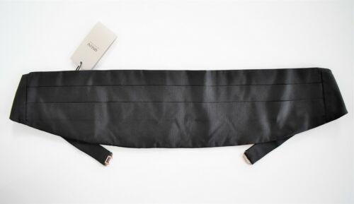 $160 New ARMANI COLLEZIONI Black Pleated 100% SILK SMOKING FORMAL Cummerbund