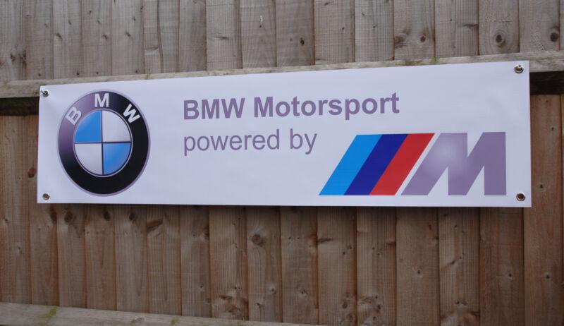 BMW E30 M3 Banner Garage Workshop LARGE PVC Sign Trackside DTM Car Display