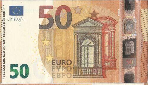 50 Euro Banknote Circulated Legal Tender 2017