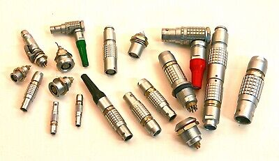 Large Lot Of Lemo Connectors Sizes 00 To 3
