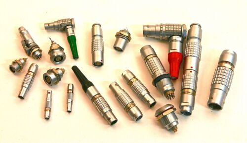 LEMO Connectors, Sizes 00 to 3 - Choose from Inventory of approx. 500