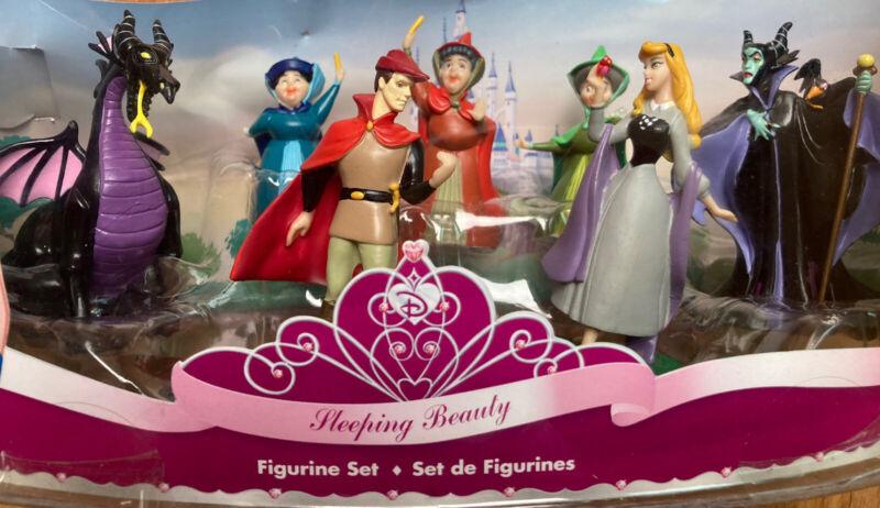 Disney Sleeping Beauty 7 Piece Figurine Set New In Box