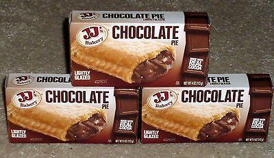 Jjs Bakery Lightly Glazed Snack Pies 4 Oz  3   Chocolate  Remember Hostess