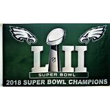 PHILADELPHIA EAGLES 2018 SUPER BOWL CHAMPIONS FLAG 3'X5': FAST FREE SHIPPING