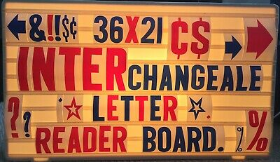 36x21 Changeable 6-4-2 Letters Message Sign Menu Price Marquee Reader Board