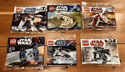 Lot of 6 New LEGO Star Wars Polybags 8031 30052 30050 8028 30056 30497 Sealed