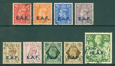 SG 1-9 EAF Somalia 1943-46. 1d to 2/6 set of 9 values. Very fine used