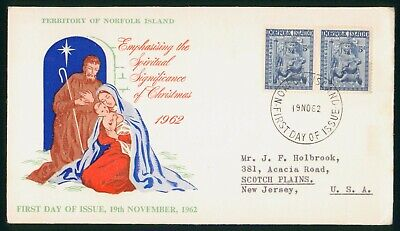 Mayfairstamps Norfolk Island FDC 1962 Madonna and Child Block First Day Cover ww